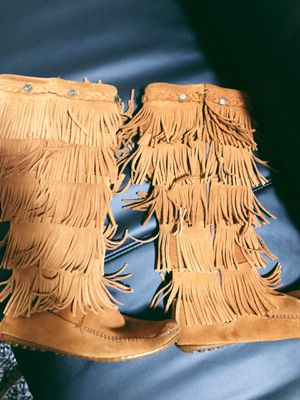 Minnetonka Knee High Fringe Boots for Sale in Salt Lake City, UT