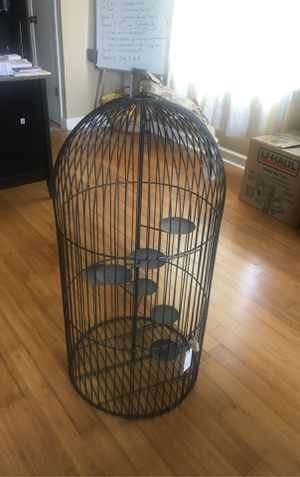 Z Gallerie Hanging Bird Cage Candle Holder for Sale in Memphis, TN