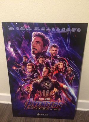 Avengers Endgame Movie Theater Poster Hard Board - EXCELLENT CONDITION! for Sale in Los Angeles, CA