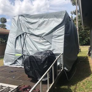 RV cover only used twice less then a month new! for Sale in North Fort Myers, FL
