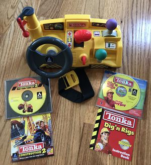 Kids Tonka steering wheel and 2 Tonka PC games for Sale in Simpsonville, SC