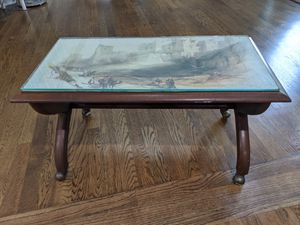 Antique side table with wheels for Sale in Great Falls, VA