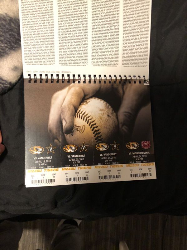 "Mizzou Baseball Season Tickets "" Selling individual tickets"""