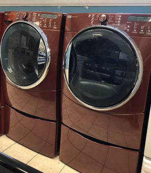 Kenmore Front Load Washer and Electric Dryer Set with Pedestals for Sale in Elkridge, MD