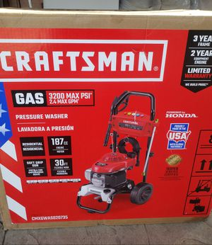 CRAFTSMAN 3200-PSI 2.GAS PRESSURE WASHER for Sale in Sacramento, CA