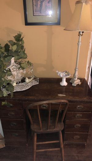 Antique Fully Solid Desk for Sale in Joliet, IL