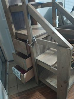 Staircases to a bunk bed with three drawers for Sale in Columbus,  OH