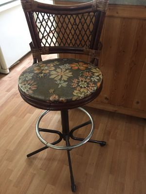 Cool funky tiki style mid century barstool for Sale in Seattle, WA