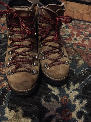 Vintage Dexter Roughout Alpine Mountaineering Suede Leather Vibram Hiking Boots for Sale in Tacoma, WA