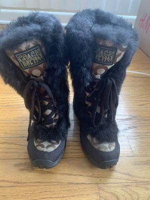 Coach Fur Boots for Sale in Niles, IL