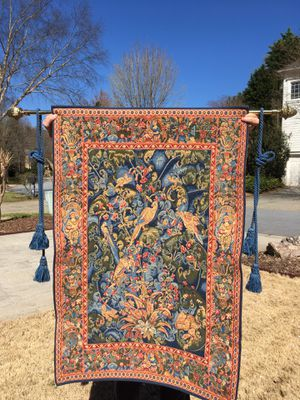 Wall Tapestry with Rope Tassels & Rod for Sale, used for sale  Smyrna, GA