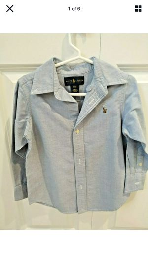 Ralph Lauren Toddler Boy Shirt Size 3/3T Casual Button Down Long Sleeve Blue for Sale in Renton, WA