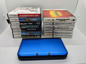 Blue Nintendo 3DS XL with 14 Games for Sale in Pompano Beach, FL