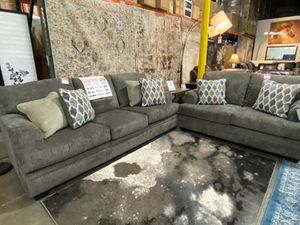 2 PC Sofa and Loveaseat Set, Brownish Grey for Sale in Downey, CA