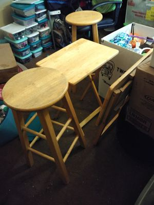 Wooden stools and TV trays. for Sale in Mesa, AZ