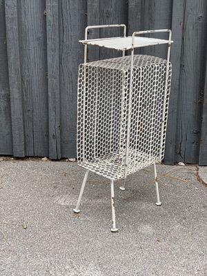 Mid century metal magazine vinyl rack for Sale in San Fernando, CA