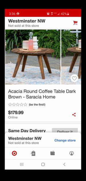 Round coffee table for Sale in Stanton, CA