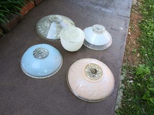 Midcentury glass light fixtures for Sale in Knoxville, TN