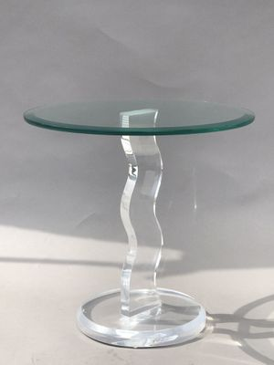 VINTAGE SHLOMI HAZIZA SCULPTURAL LUCITE & GLASS TABLE -SIGNED- MODERN SCULPTURE for Sale in Pasadena, CA