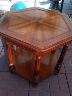 Solid Wood Vintage Coffee Table Absolutely Gorgeous Octagon Great Condition Put In Your House Ready To Go Right for Sale in St. Peters,  MO