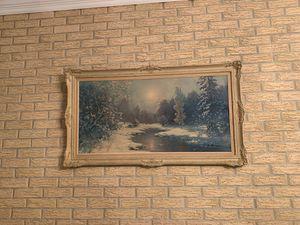 Large vintage framed art for Sale in Rexford, NY