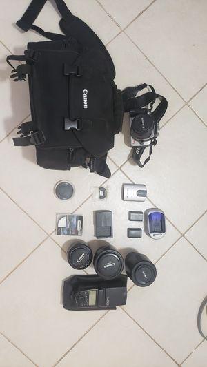 Canon Digital Rebel XT (aka 350D) and lenses for Sale in Leonia, NJ
