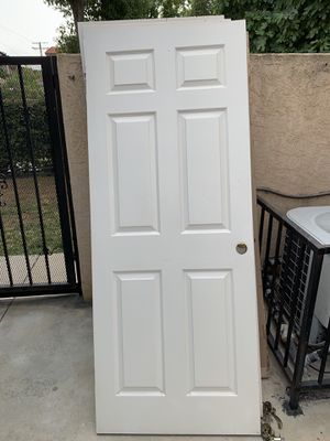 Wood Panel Door - White - 6 Panels - Finish Paint for Sale in Los Angeles, CA