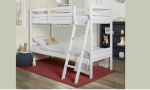 Bunk bed twin over twin not mattress included for Sale in Dallas, TX