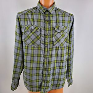 Mountain Hardwear Mens Plaid Long Sleeve Button Down Shirt Size Large for Sale in Gresham, OR