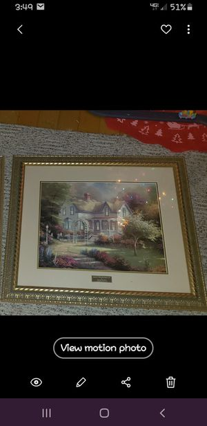 Thomas Kinkade Home Is Where the Heart Is II Library Edition Home Interiors for Sale in Marion, IL