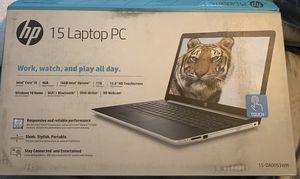 HP 15 Graphite Mist Laptop Touchscreen, Intel Core i5-8250U, 1TB HDD + 16GB Intel Optane memory, 4GB SDRAM, DVD for Sale in Montebello, CA