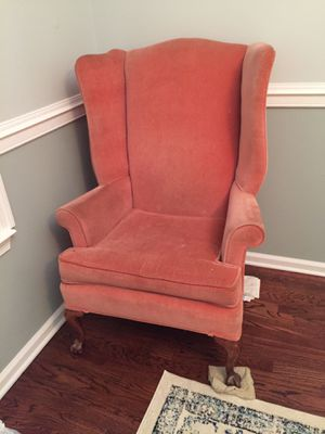 Queen Anne Wingback Chair for Sale in Medford, NJ