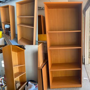 FOUR Wood Bookshelves for Sale in Cupertino, CA