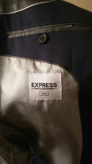 EXPRESS photographer fitted Navy suit for Sale in Austin, TX