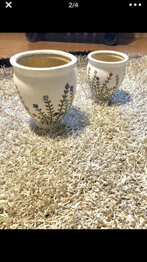 Ceramic flower pots for Sale in Oak Forest, IL