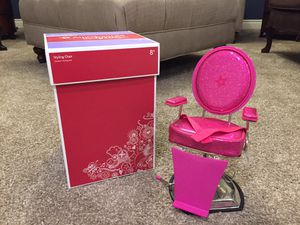 American Girl Doll Salon Chair with Box for Sale in Las Vegas, NV