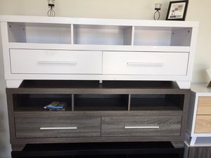 Tv Stand for Tvs Up to 70inch, White, 151301TV for Sale in Santa Fe Springs, CA