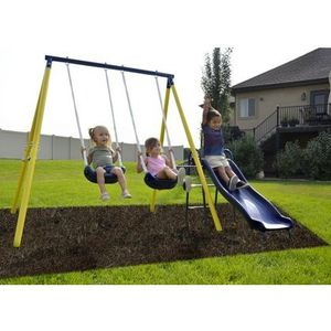 Sportspower Power Play Time Metal Swing Set for Sale in Houston, TX