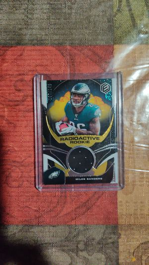 Miles Sanders patch card for Sale in Palos Heights, IL