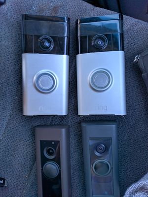 SET OF 4 RING DOORBELL CAMS for Sale in Corona, CA