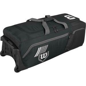 Wilson Pudge 2.0 baseball softball rolling team equipment duffel bat bag on wheels for Sale in San Mateo, CA