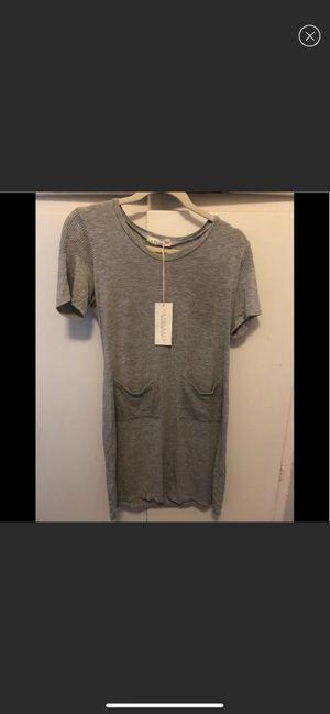 LA relaxed Side Tie Dress Pockets M Grey Soft tee boho jersey knit soft tshirt dress organic for Sale in San Diego, CA