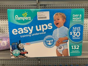 Pampers easy ups training underwear for boys size-3T-4T 132 ct for Sale in Miami Lakes, FL