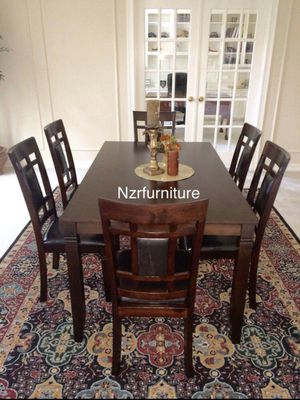 BRAND NEW 7-PC Breakfast Kitchen Dining Table Set - Espresso Brown for Sale in Missouri City, TX