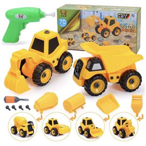 Take Apart Toys with Electric Drill , 2 in 6 Construction Truck Take Apart Toy for Boys, Gift Toys for Boys 3,4,5,6,7 Year Olds, Kids Building Beach T for Sale in Brooklyn, NY