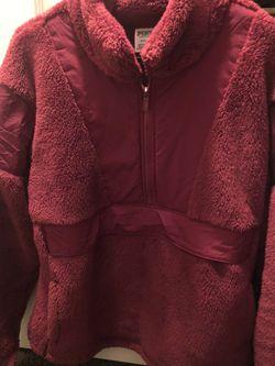 Victoria Secret Pink Sherpa Teddy Half Zip Pullover Sweatshirt Medium for Sale in Stayton,  OR