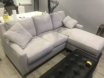 Cindy Crawford Hope Madison Place Grey 2 Pc Ambidextrous Sleeper for Sale in Belle Isle,  FL