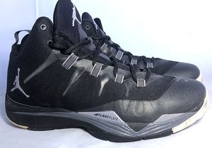 Nike Jordan Super.Fly 2 Black Basketball Casual Shoes (Used)599945-003 Size 11 for Sale in Fort Washington, MD
