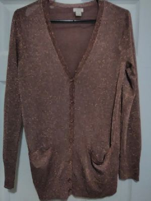 J. Crew gold metallic cardigan for Sale in Mayfield Heights, OH