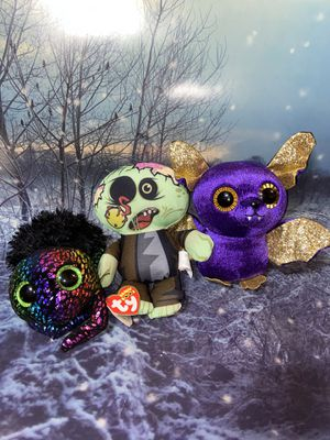 Rare Halloween TY beanie boos Plush set & other - for Sale in Paramount, CA